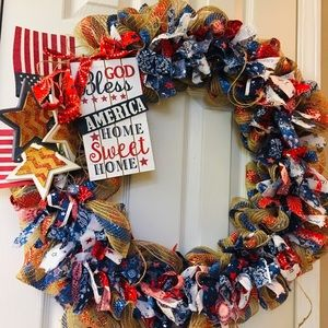 Other - Patriotic 4th of July Wreath